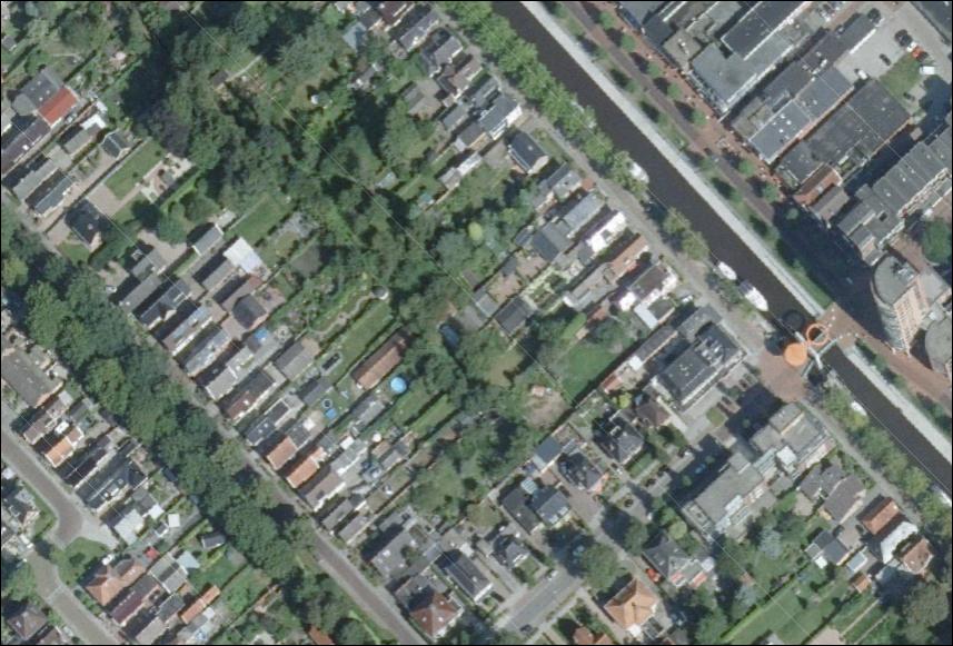 Luchtfoto 2016 met woningen